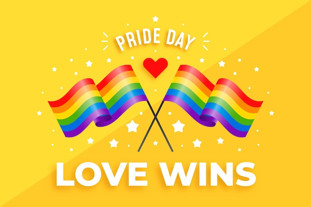 Dia do orgulho cruzado fundo de bandeiras