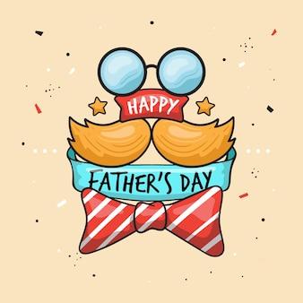 Dia do pai na mão desenhada