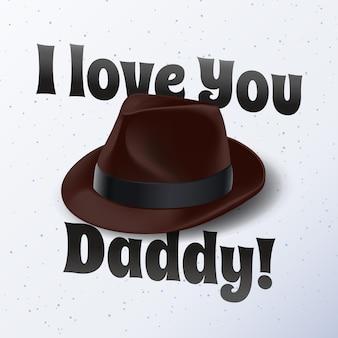 Dia do pai realista com chapéu