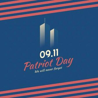Dia do patriota, o memorial nacional de 11 de setembro.