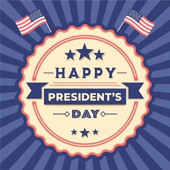 Dia do presidente colorido vintage