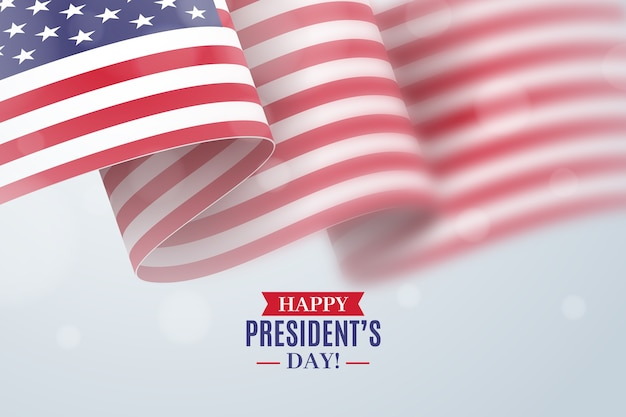 Dia do presidente com bandeira realista
