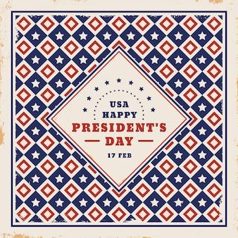 Dia do presidente vintage com design de formas geométricas