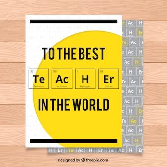 Dia do professor saudação com elementos químicos