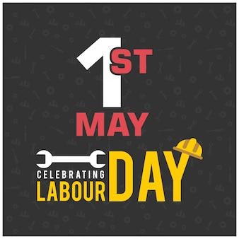 Dia do trabalhador feliz com símbolo da chave