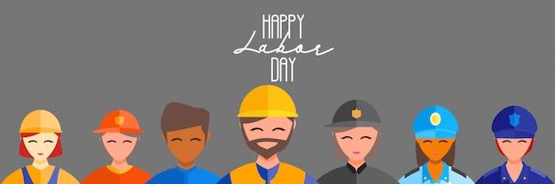 Dia do trabalhador feliz do trabalhador