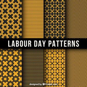 Dia do trabalhador padrões decorativos