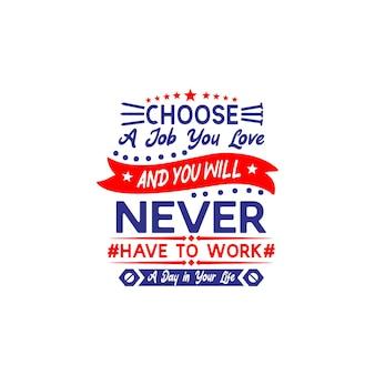 Dia do trabalho citações svg design lettering vector