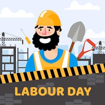 Dia do trabalho com trabalhador