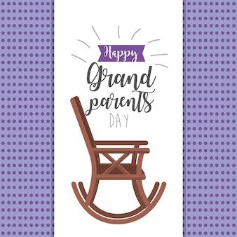 Dia dos avós com cadeira e fita design