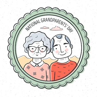 Dia dos avós nacionais com idosos