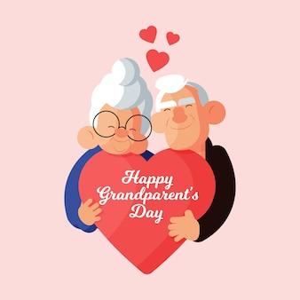 Dia dos avós nacionais de design plano