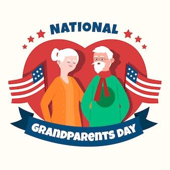 Dia dos avós nacionais desenhados à mão