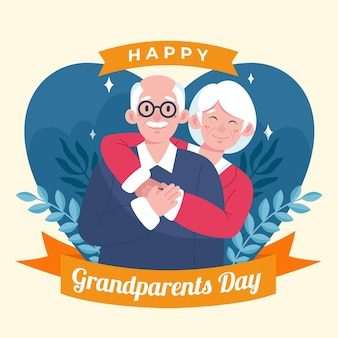 Dia dos avós nacionais mão desenhada estilo