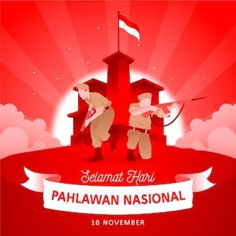 Dia dos heróis do flat pahlawan