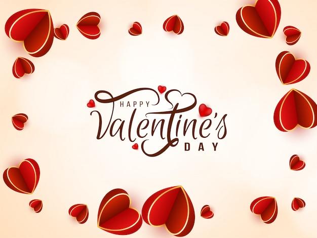 Dia dos namorados adorável com corações bonitos