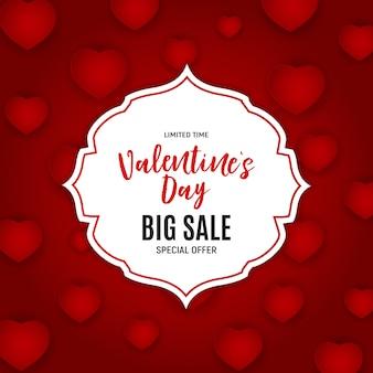 Dia dos namorados amor e sentimentos venda fundo design.