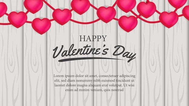 Dia dos namorados bandeira amor na madeira
