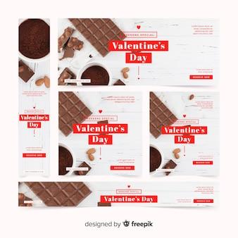Dia dos namorados banners web com foto