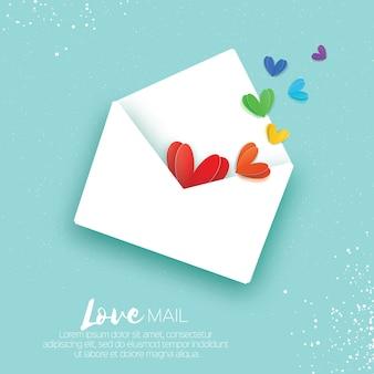 Dia dos namorados cartão de cumprimentos do dia gay. mail love