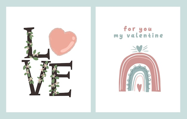 Dia dos namorados cartão de dedicação nota carta de amor bonito desenho animado escandinavo