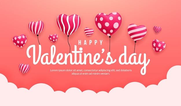 Dia dos namorados com corações lindos com diferentes padrões