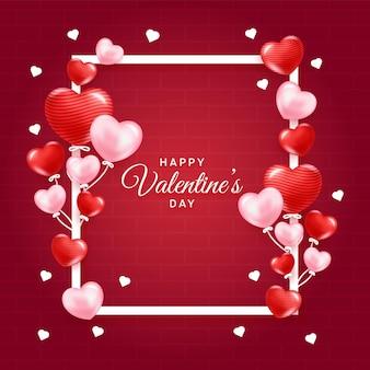 Dia dos namorados com corações