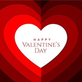 Dia dos namorados com fundo de papercut de vetor de coração
