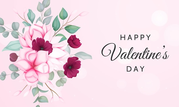 Dia dos namorados com lindos florais