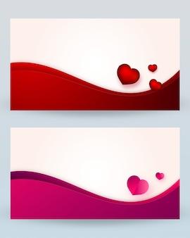 Dia dos namorados com tendências curvas curvas formas e corações