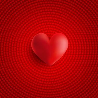 Dia dos namorados coração 3d
