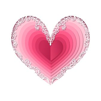 Dia dos namorados, coração abstrato.