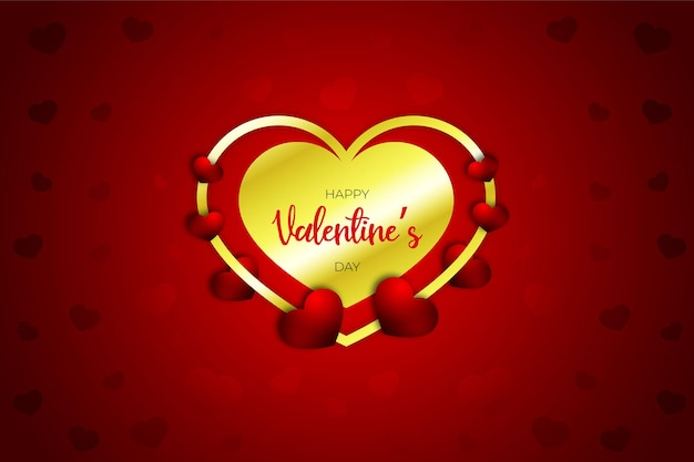 Dia dos namorados coração doce realista, estilo, faixa vermelha ou plano de fundo