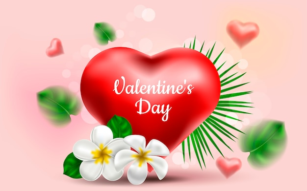 Dia dos namorados coração realista