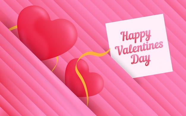 Dia dos namorados corações abstrato rosa