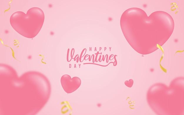 Dia dos namorados corações vermelhos fundo rosa