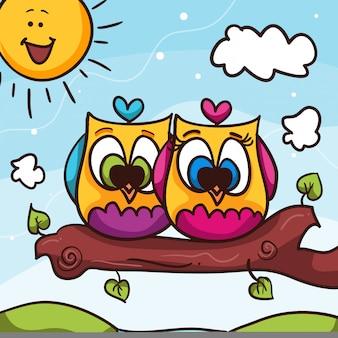 Dia dos namorados da coruja