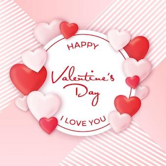 Dia dos namorados, desenho, com, corações
