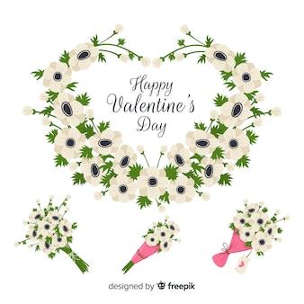 Dia dos namorados grinaldas florais e buquês