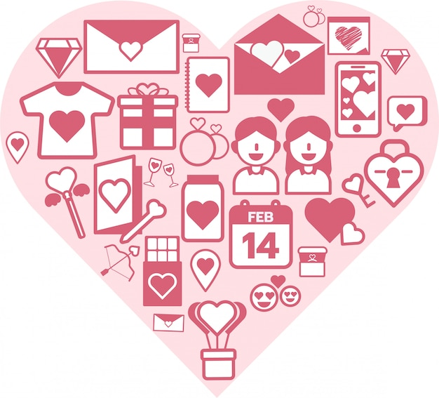 Dia dos namorados, ícone, jogo