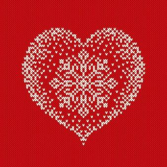Dia dos namorados malha camisola design com coração. padrão sem emenda