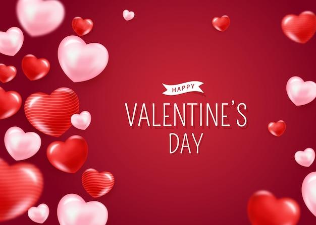 Dia dos namorados moderno com corações