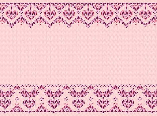 Dia dos namorados ou inverno design. padrão escandaloso. ilustração rosa