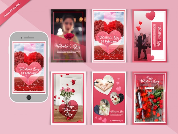 Dia dos namorados romântico instagram post