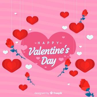 Dia dos namorados rosas fundo