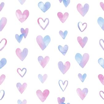 Dia dos namorados sem costura padrão de corações