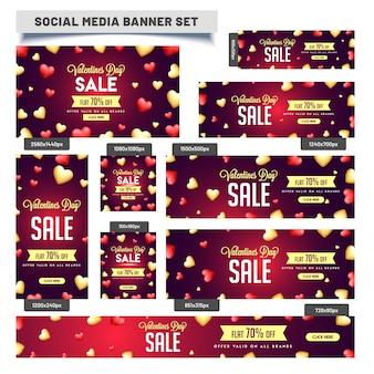 Dia dos namorados, venda de mídia social para flat 70% de desconto.