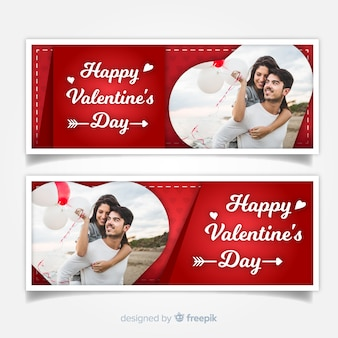 Dia dos namorados web banner collectio