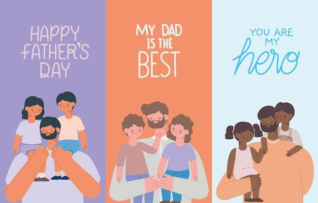 Dia dos pais dos cartões