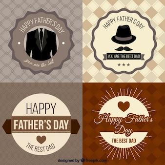 Dia dos pais emblemas coleção